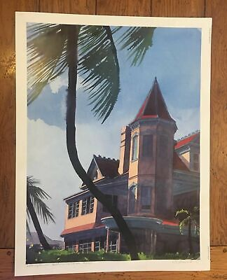 $159.95 • Buy Late Afternoon Southernmost House Key West FL Signed Art Print RE Kennedy 19x25