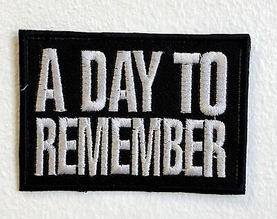 £1.99 • Buy A Day To Remember Rock Band Iron/Sew On Embroidered Patch