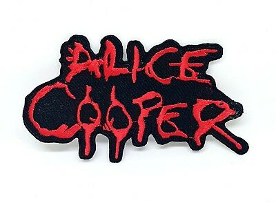 £1.99 • Buy Alice Cooper Punk Rock Heavy Metal Music Iron/Sew On Embroidered Patch #575