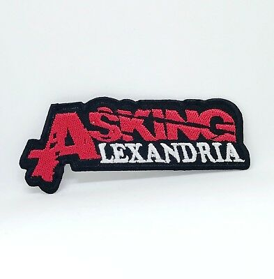 £2.13 • Buy Asking Alexandria Metal Punk Rock Music Iron/Sew On Embroidered Patch #874