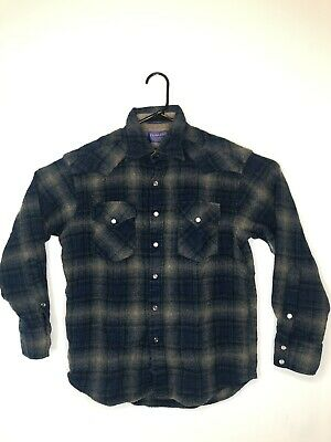 961bb6ee Pendleton High Grade Western Wear Wool Shirt Size M Plaid Pearl Snap  Buttons • 20.00$