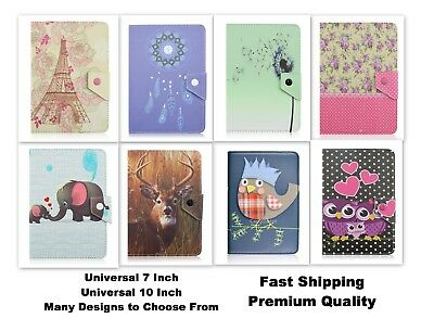 AU8.99 • Buy Premium PU Leather Universal 7 Inch Tablet Stand Printed Solid Color Case Cover