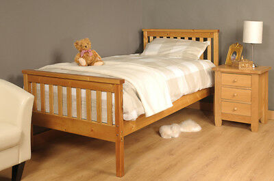 Single Bed In Pine 3ft Single Bed Wooden Frame Pine • 63.99£