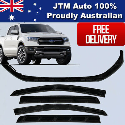 AU109 • Buy Bonnet Protector + Window Visors Weather Shields To Suit Ford Ranger PX3 2018+