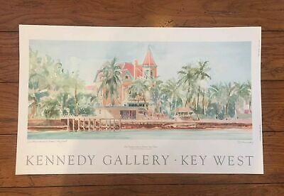 $29.95 • Buy Kennedy Gallery Key West Signed Art Print Of The Southernmost House 1994 25.5