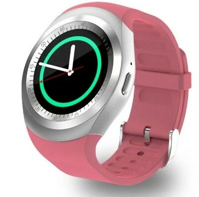 Pink Smart Watch Call & Receive Phone Calls Music Player For Android/iOS   F20 • 18.48£