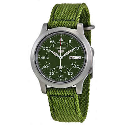 $ CDN116.09 • Buy Seiko 5 Green Dial Green Canvas Men's Watch SNK805