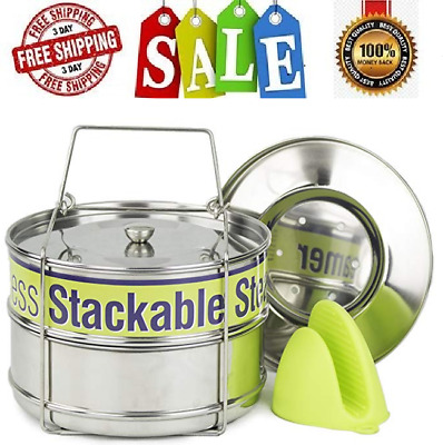 $39.99 • Buy Stackable Instant Pot Accessories - Instapot Accessory Insert Pans Ultra For Veg