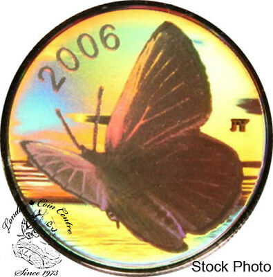 $29.51 • Buy Canada 2006 50 Cents Silvery Blue Butterfly Hologram Silver Coin