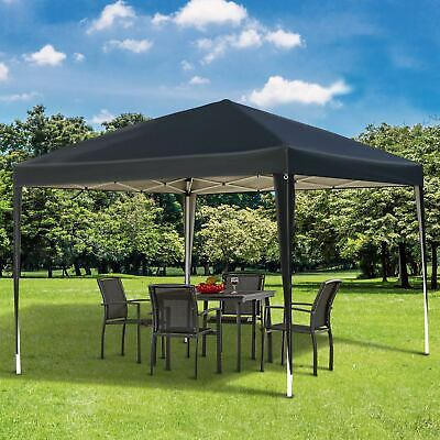 Outsunny 3 X 3m Garden Pop Up Gazebo Marquee Party Tent Wedding Canopy Black • 62.99£