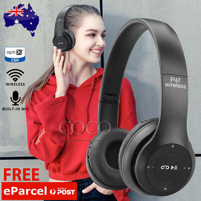 AU21.95 • Buy Noise Cancelling Wireless Headphones Bluetooth 4.2 Earphone Headset With Mic AU
