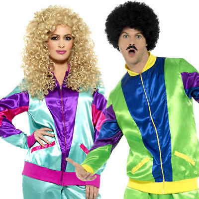 80s Shell Suit Adults Fancy Dress 1980s Scouser Tracksuits Mens Ladies Costumes • 24.99£
