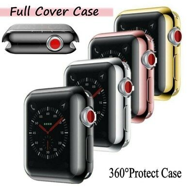 $ CDN3.58 • Buy For Apple Watch Series 4/3/2 38/44mm Slim Full Body Screen Protector Case Cover