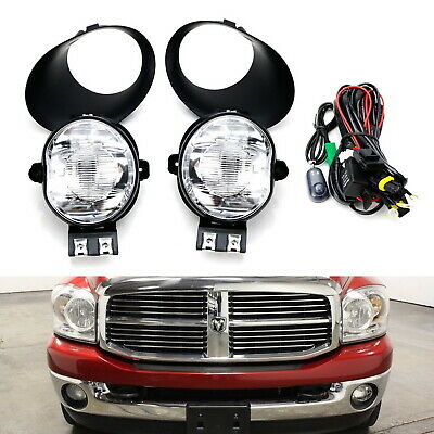 $72.19 • Buy Clear Lens Fog Lights W/ 9145 Halogen Bulbs, Covers For Dodge RAM 1500 2500 3500