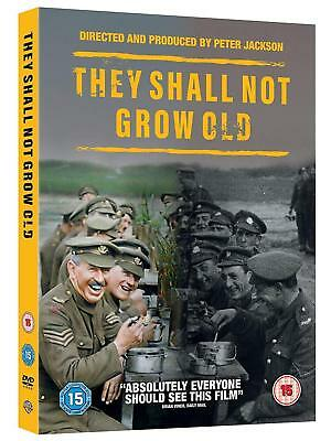 $22.86 • Buy THEY SHALL NOT GROW OLD (2018) Peter Jackson WWI Documentary NEW Rg2 DVD Not US