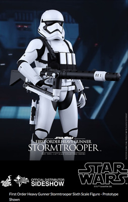 AU349.99 • Buy Star Wars Hot Toys First Order Stormtrooper Heavy Gunner 1:6 Scale HOTMMS318