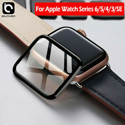 $ CDN10.16 • Buy Apple Watch 6 5 4 3 44/40mm 3D Curved Tempered Glass Full Cover Screen Protector