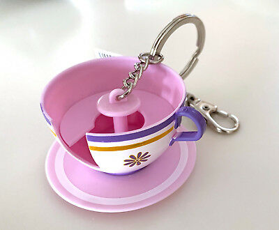 6c87e8ce688 Disney Parks Alice In Wonderland Mad Tea Party Teacup Ride Keychain NEW •  19.90