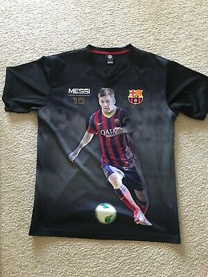 7cff9c37b14 FCB Messi #10 Graphic T-shirt Futbol Soccer Barcelona Official Polyester