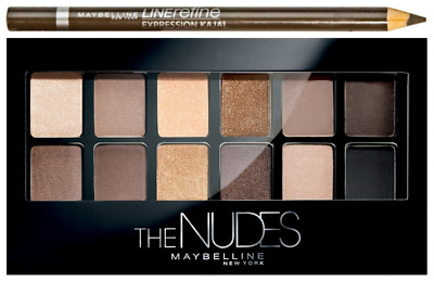 AU16.23 • Buy MAYBELLINE The NUDES Eyeshadow Palette WITH Eyeliner Pencil 9.6g - NEW Sealed