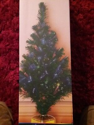 Colour Changing Fibre Optic Christmas Tree 80cm Led  Decorate Your Home Lights • 14.99£