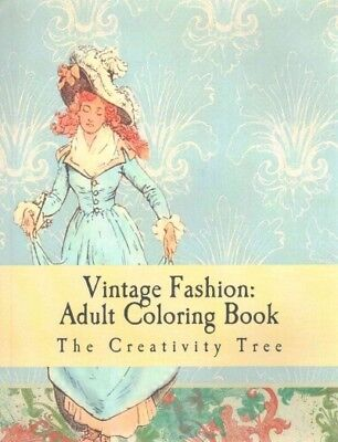 $9.63 • Buy Vintage Fashion : Adult Coloring Book, Paperback By Creativity Tree (COR), Li...