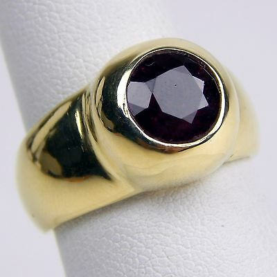 $1700.10 • Buy Barakat Heavy, Natural Ruby Gypsy Band Ring 18 Kt Yellow Gold Size 7 #A1705
