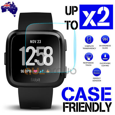 AU3.79 • Buy Fitbit Versa/ Versa Lite Screen Protector 9H Tempered Full Coverage Glass Guard
