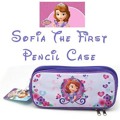 £7.07 • Buy Disney Junior Sofia The First Large Sized  Zip Up Lavender Flower Pencil Case