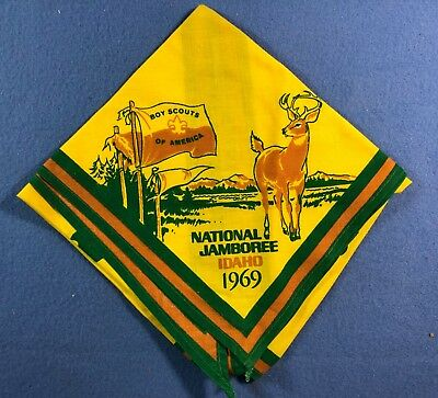 Vintage Boy Scout Neckerchief - 1969 National Jamboree - Idaho • 8£