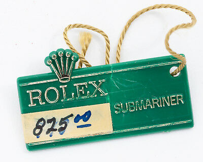$ CDN335.07 • Buy Vintage 1970's Rolex Green Hang Tag For The Red Submariner! Excellent Condition!