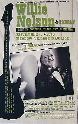 $14.51 • Buy WILLIE NELSON 2010 BIG SKY, MONTANA CONCERT TOUR POSTER - Country Music Legend
