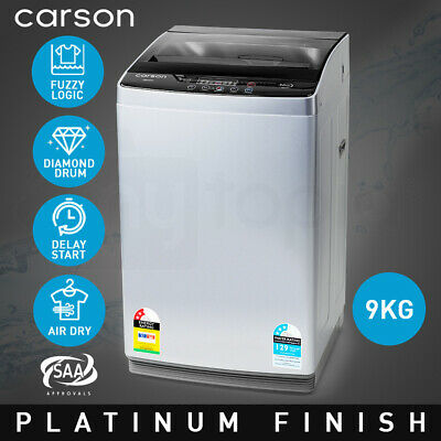 AU499 • Buy CARSON 9kg Top Load Washing Machine Home Dry Wash Automatic Washer Grey Laundry