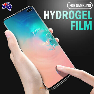 AU5.95 • Buy Samsung Galaxy S10 5G S9 S8 Plus Note 10+ 9 8 S7 Edge HYDROGEL Screen Protector