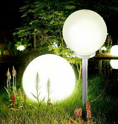 Jumbo Giant LED Solar Garden Mood Ball Sphere Globe Stake Light White • 7.99£