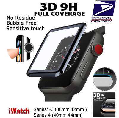 $ CDN5.62 • Buy 3D Tempered Glass Screen Protector For Apple Watch IWatch 40mm Series 4 US Ship
