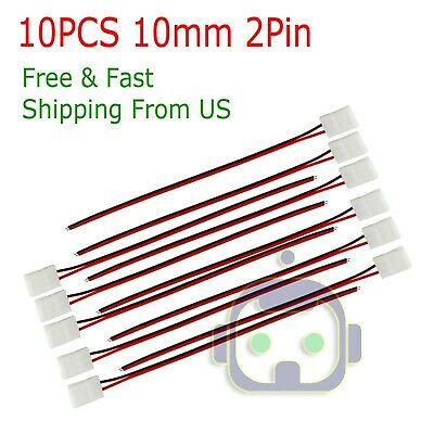 $2.75 • Buy 10PCS 2 Pin Connector Cable To DC Female Power For 3528 2835 LED Strip Light