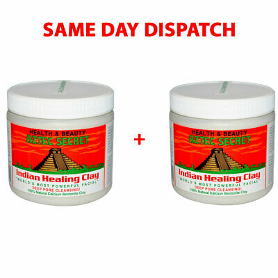 AU78.90 • Buy Aztec Indian Healing Clay X 2 Facial Deep Pore Cleansing Mask Skin Care Genuine