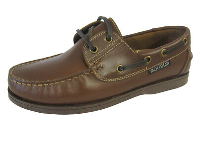 Seafarer Yachtsman Ladies Deck Shoe Brown  FREE POST  Leather Brown Deck Shoes • 32.50£