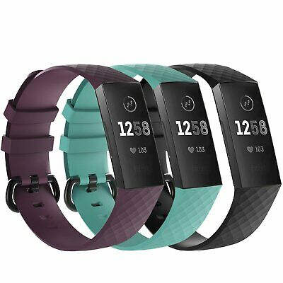 $ CDN10.65 • Buy 3 Pack Replacement  Band For Fitbit Charge 3  Bracelet Watch Rate Fitness