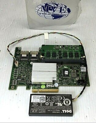 $29.99 • Buy Dell 0w56w0 0nu209 Poweredge R410 E07s Sas Raid Controller Card W/battery