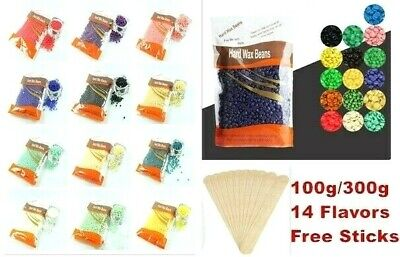 $6.99 • Buy Hard Wax Beads Beans Hair Removal No Strip Depilatory 100g/300g With Free Sticks