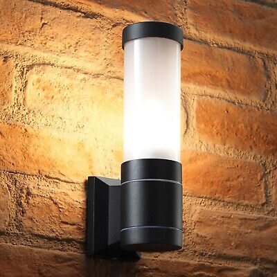 Auraglow 5w Modern Outdoor Wall Lantern Garden Light - LED Light Bulb Included • 9.99£