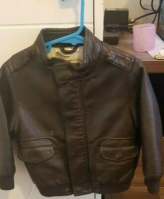 Zara Boys Leather Jacket 18-24 Months Old,not Next,can Be Worn All Seasons • 14.50£