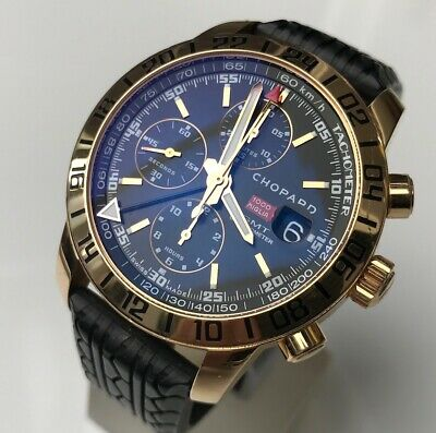 £7599 • Buy Chopard Mille Miglia Gmt Solid 18k Gold Limited Chrono Automatic Date Black Dial