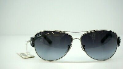 57f143affe   NEW   Ray Ban RB 3467 003 8G SILVER   BLACK 63