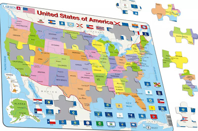 £11.99 • Buy Map Of The United States Of America - K12 Frame/Board Jigsaw Puzzle 29cm X 37cm