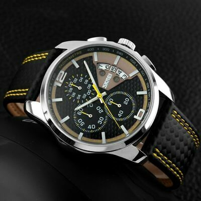 New Mens Waterproof Sports Military Watch 3 ATM Chronograph Date Analogue Quartz • 13.99£