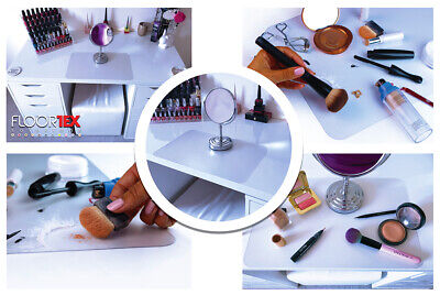 Make Up Mat Dressing Table Clear Anti-Static Easy Clean 30 X 46cm Makeup Station • 13.99£