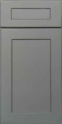$24.99 • Buy Shaker Gray Painted Kitchen Cabinets All Wood, In Stock Sample Door-RTA